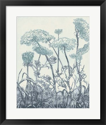 Framed Indigo Fields II Print