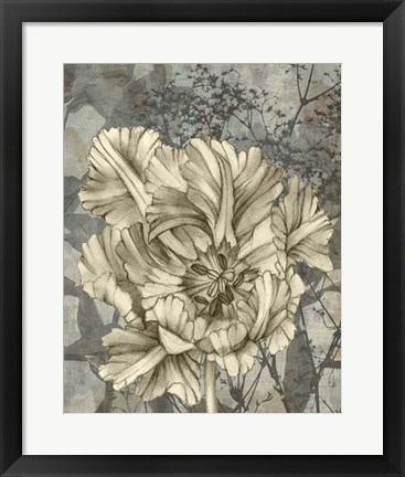 Framed Tulip & Wildflowers IX Print