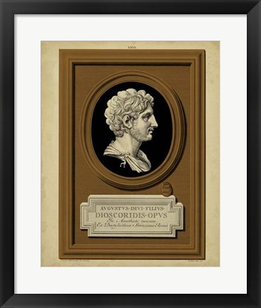 Framed Greek Cameo I Print
