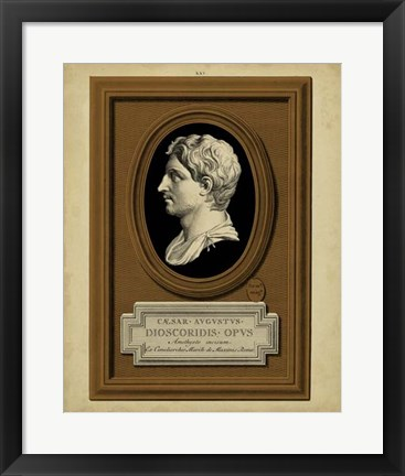 Framed Greek Cameo II Print