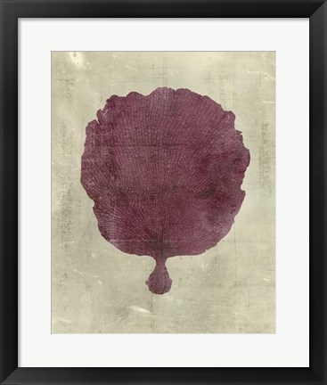 Framed Coral in Plum Print