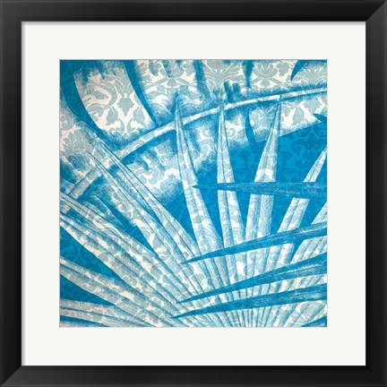 Framed Damask Palms I Print