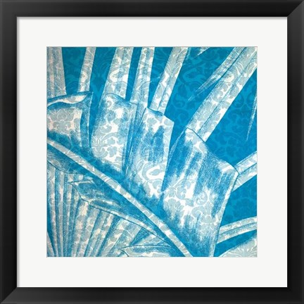 Framed Damask Palms III Print