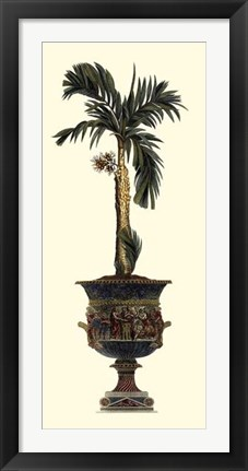Framed Elongated Potted Palm II Print