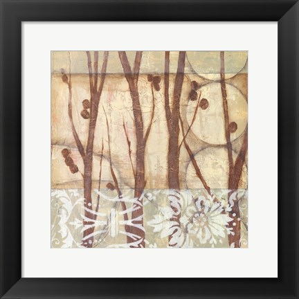 Framed Small Willow and Lace III Print