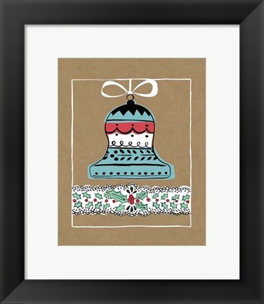 Framed Holly Jolly Christmas II Print