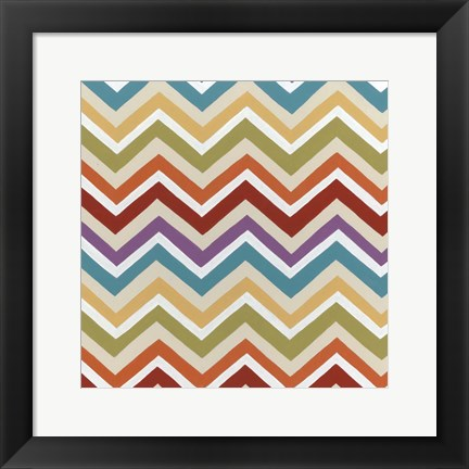Framed Retro Pattern II Print