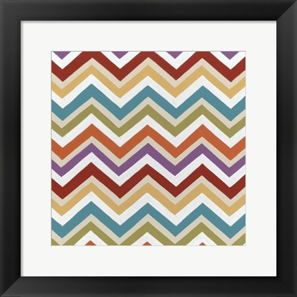 Framed Retro Pattern III Print
