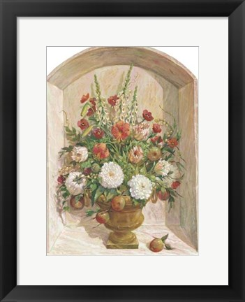 Framed Peonies & Apples II Print