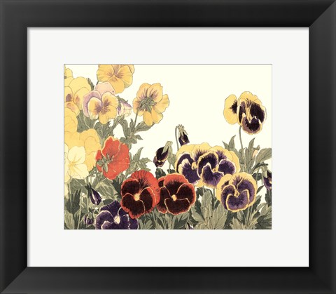 Framed Small Japanese Flower Garden V Print
