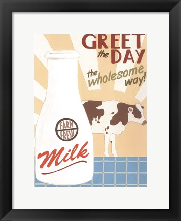 Framed Farm-Fresh Milk Print
