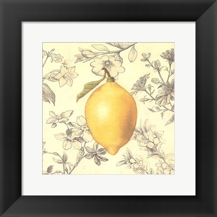 Framed Lemon and Botanicals Print