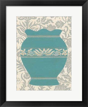 Framed Pottery Patterns IV Print