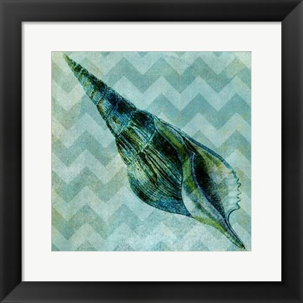 Framed Chevron Shell V Print