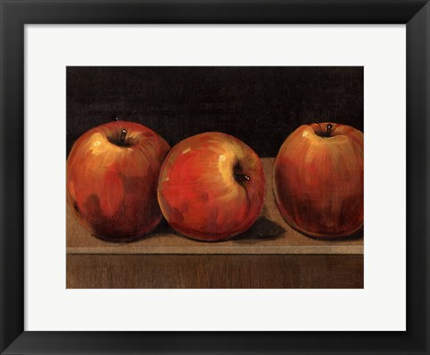 Framed Apple Study Print