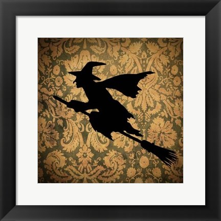 Framed Witch & Damask Print