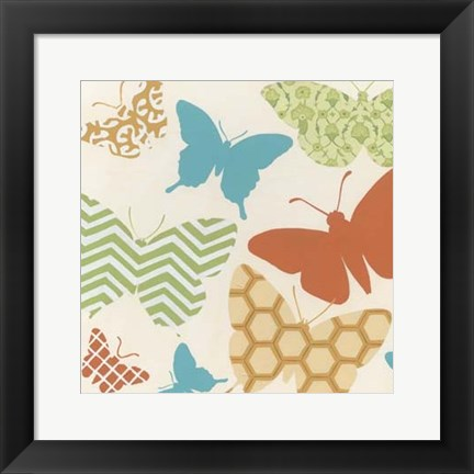 Framed Butterfly Patterns I Print