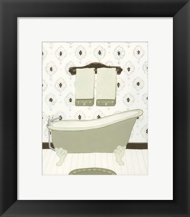 Framed Parisian Bath I Print