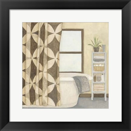 Framed Patterned Bath III Print