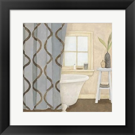 Framed Patterned Bath IV Print