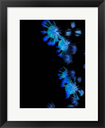 Framed Moon Blue II Print
