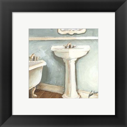 Framed Porcelain Bath I Print