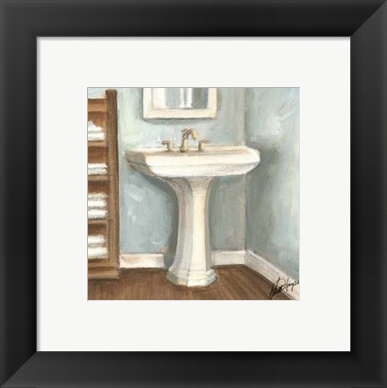 Framed Porcelain Bath III Print