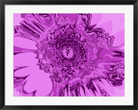 Framed Pink Abstract Flower Print