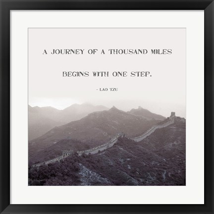 Framed Journey Of A Thousand Miles Print