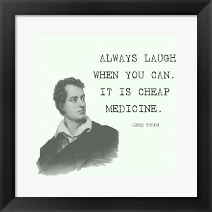 Framed Laugh When You Can Quote Print