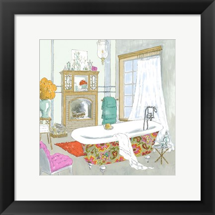Framed Moroccan Bath I - Mini Print