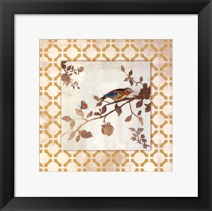 Framed Audubon Tile I - Mini Print
