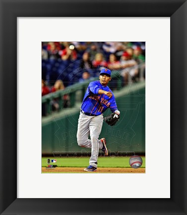 Framed Ruben Tejada 2013 in action Print