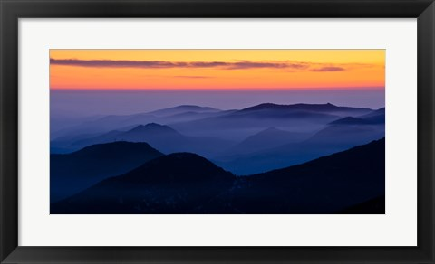 Framed Rocky Mountain Mist Print
