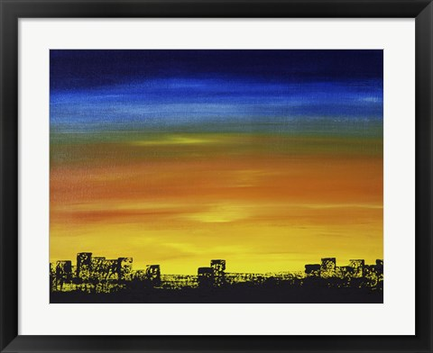 Framed Skyline II Print