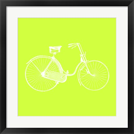Framed Lime Bicycle Print