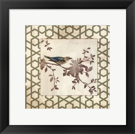 Framed Audubon Tile II - Mini Print