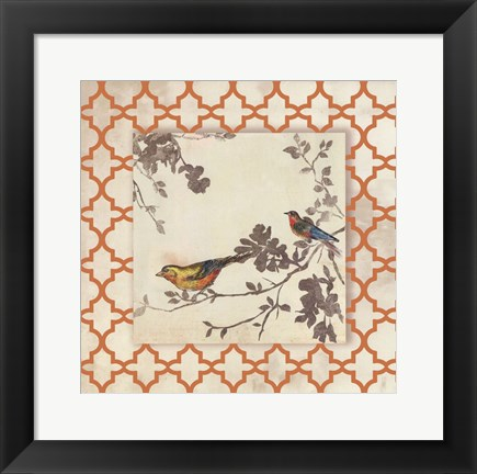 Framed Audubon Tile IV - Mini Print