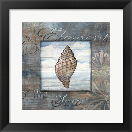 Framed Elements of the Sea I Print