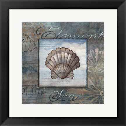 Framed Elements of the Sea II Print