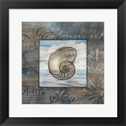 Framed Elements of the Sea IV Print