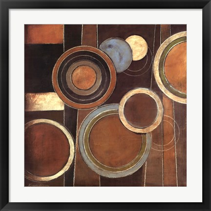 Framed Abstract Circles I Print