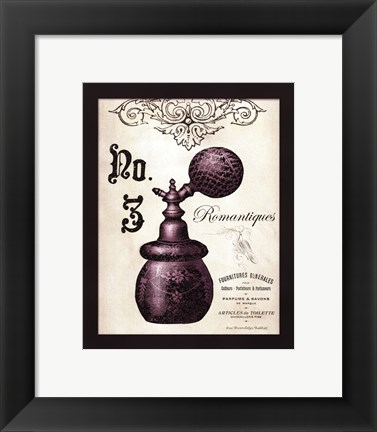 Framed French Perfume 3 - mini Print