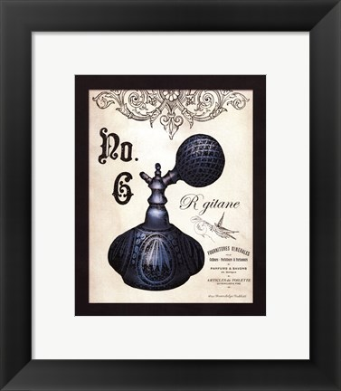 Framed French Perfume 6 - mini Print