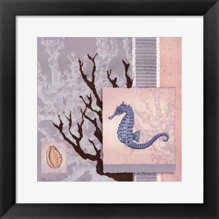 Framed Aquarius Blue Sq II Print