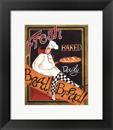 Framed Fresh Baked Bread - mini Print