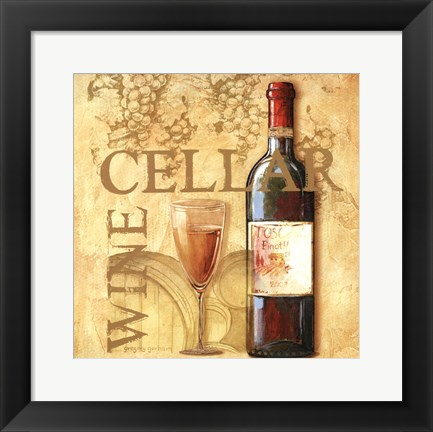 Framed Wine Cellar Square Print