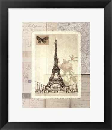 Framed Paris Sketchbook Print