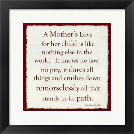 Framed Mother's Love red Print