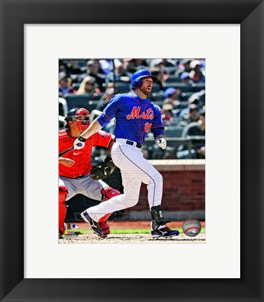 Framed Ike Davis 2013 Action Print